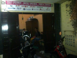 This is Alkatrans Tour & Travel Office Branch Klaten very simple