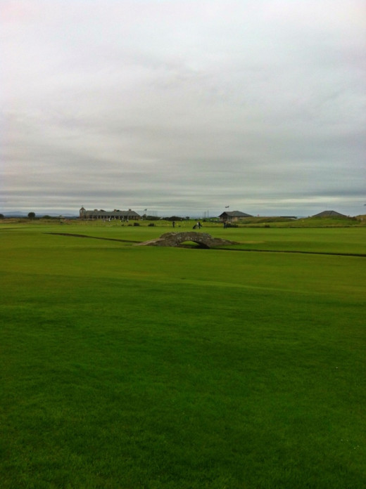 The famous bridge at St Andrews golf Course