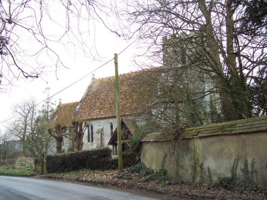 Odstock Church where a curse was stopped by throwing the church keys into a river.