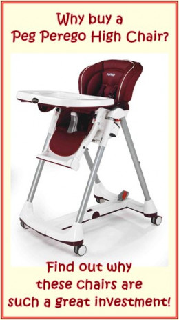 We show you that a Peg Perego high chair is a top quality buy that will prove a great investment!