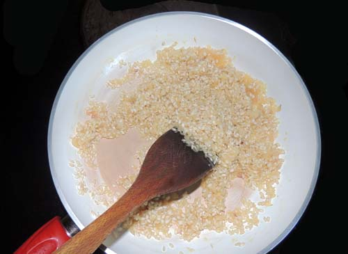 stir to coat all grains thoroughly