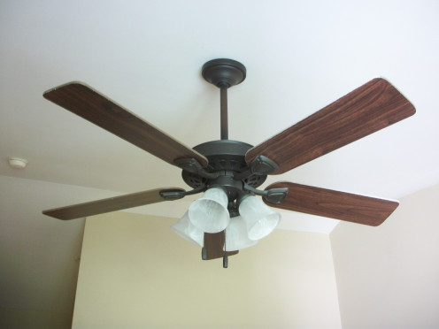 Ceiling fans need to be dusted every so often because they can accumulate a lot of dust.