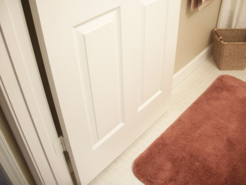 This door to the extra bathroom is seldom used. It must be cleaned about every 6 months.