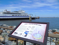 The Lewes ferry terminal is part of the Lewes Maritime History Trail.