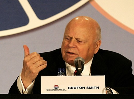 SMI owner Bruton Smith is unlikely to quietly allow NASCAR to take one of his Sprint Cup dates