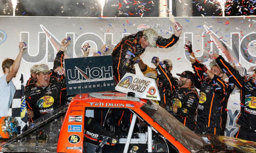 Ty Dillon thought he was about to celebrate another truck win before he was turned by Elliott