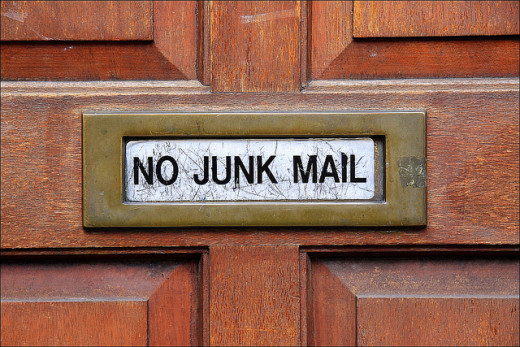 Opt out or unsubscribe from mailing lists to cut down on junk mail.