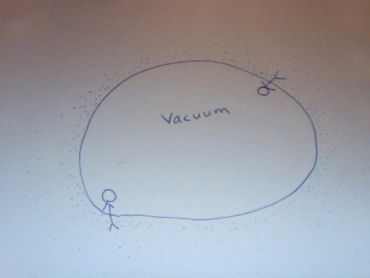 Vacuum - little scribbling by Violet Flame, 2013