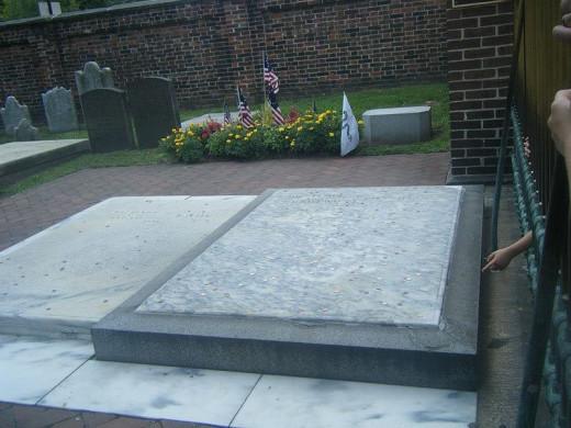 Benjamin Franklin's grave.