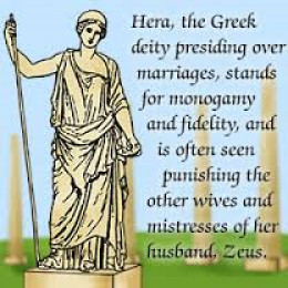 Hera, the wife whom Zeus often cheated on