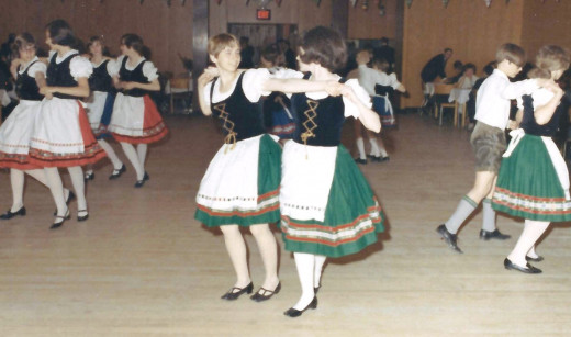 That's me folk dancing, center right
