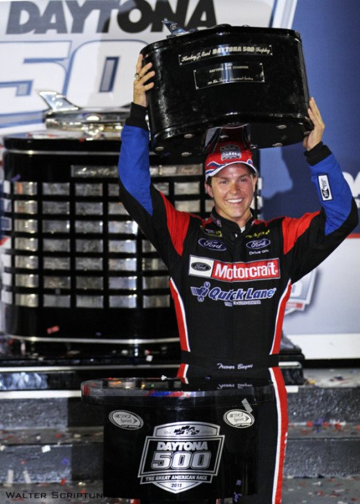 Bayne has yet to be eligible for Sprint Cup Rookie of the Year but has already won a Daytona 500