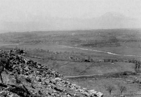 Rapido/Gari River in the distance.