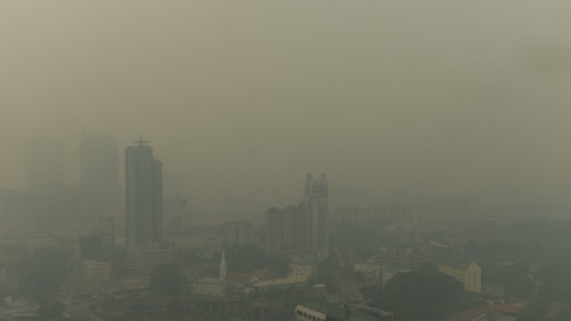 Some cities, such as Beijing and Los Angeles can have days where brown haze takes over. Those with breathing problems have to remain indoors.