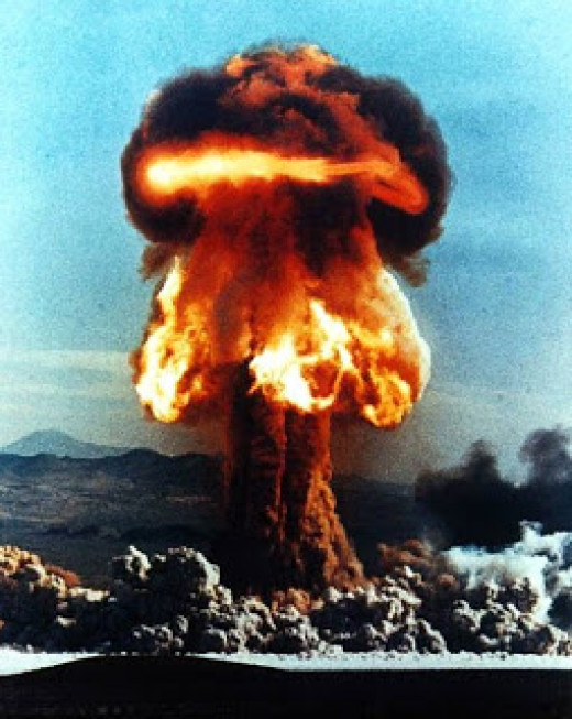 With the advent of the atomic age, humanity has added many very toxic wastes to the atmosphere. Though few above ground tests are done today, the use of depleted uranium in war is a major concern.