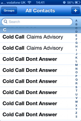 Save nuisance numbers in your phone.
