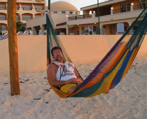 Relaxing in Cozumel
