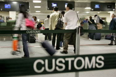 Airport Customs procedures vary.