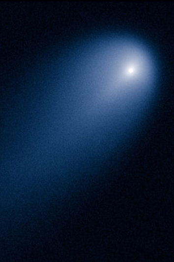 Let's be positive - at least in powerful telescopes, Comet Ison is now generating some impressive images. This was taken by the Hubble Space Telescope on 10th April