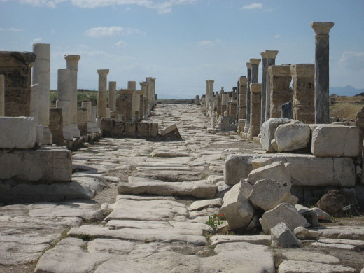 The ruins of Laodicea in Turkey today.