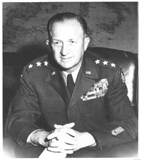 General Eddy as commander of the 7th Army in Europe (1950-1952).