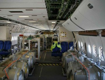 Inside of a chem-trail airplane