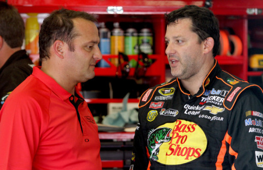 Stewart's absence has created additional pressure for competition director Greg Zipadelli (left)