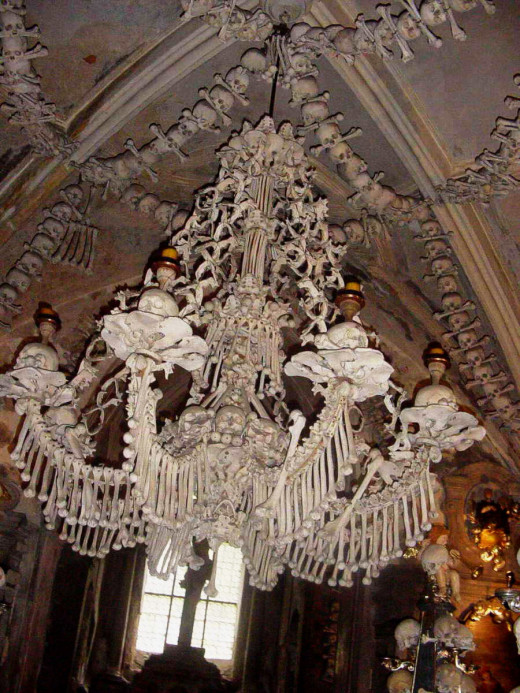 A view from beneath the chandelier