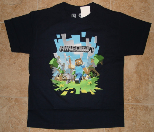 Minecraft shirts are a must-have for a true Minecraft fan. Pick from various styles and graphics!