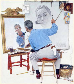 Famous painter, Norman Rockwell contracted Alzheimer's Disease.