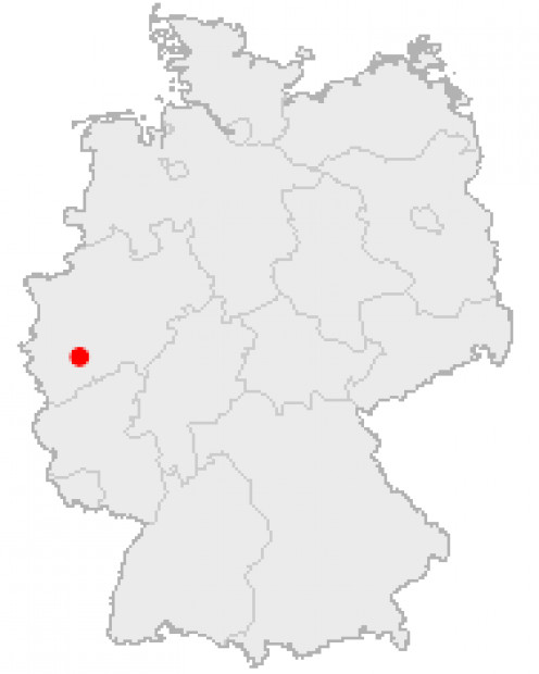 Map location of Cologne, Germany