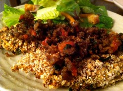 Oven-Baked Almond Meal Chicken