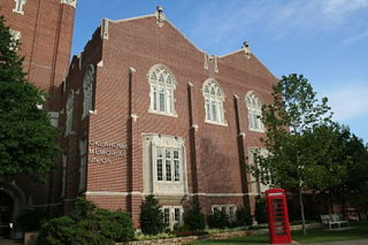 The student union at University of Oklahoma