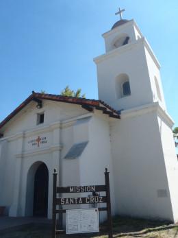 Mission Santa Cruz replica in Santa Cruz Mission State Historic Park, Santa Cruz, CA.