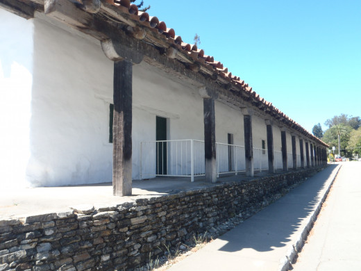 The Mission adobe at Santa Cruz Mission State Historic Park.