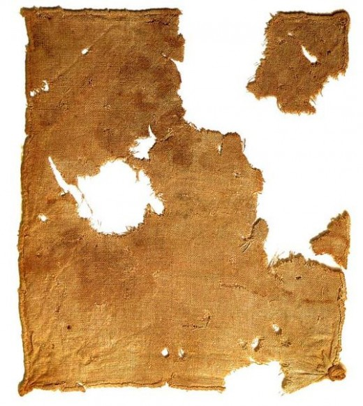 Ancient Linen Linen Cloth recovered from the Dead Sea [http://www.loc.gov/exhibits/scrolls/ ]
