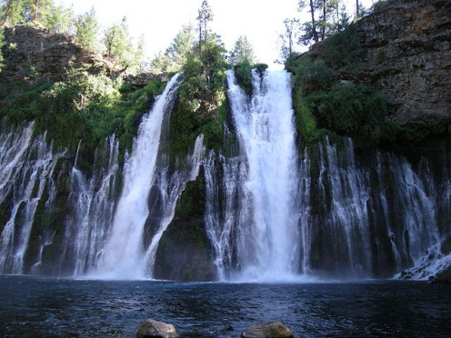 Burney Falls is near Mount Lassen and well worth a day trip away from your campsite to experience