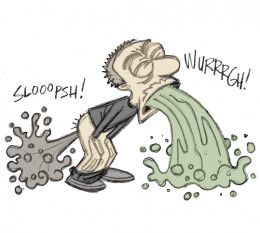Symptoms of food poisoning include: vomiting, diarrhoea, nausea, stomach cramps, fever, headache and giddiness