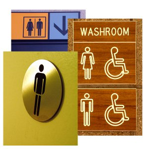 Custom Bathroom Signs
