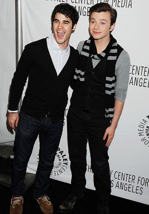 Left: Darren Criss Right: Chris Colfer