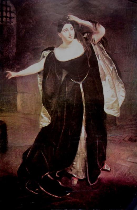Portrait by Karl Briullov of Giuditta Pasta as Anna Bolena