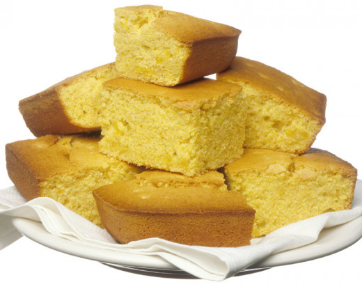 Cornbread tastes great with melted butter.