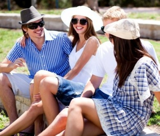 Feeling nervous? Why don't you keep your first date casual and invite a few friends along?