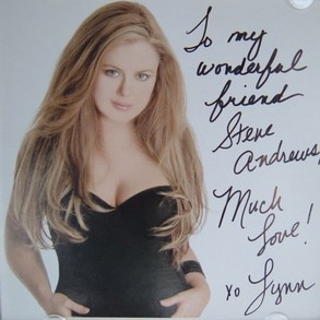 Cover of Lynn Carey Saylor's album cover autographed to me.