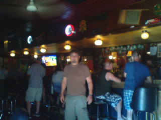 While the women are at the shopping malls, the men are at the taverns.