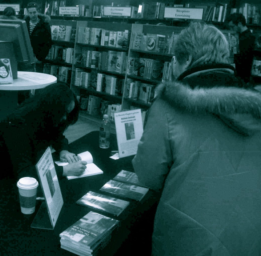 Melinda Cochrane at her recent book signing.