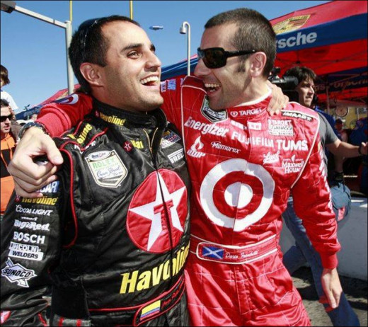 The two open wheel drivers had very different NASCAR careers. Montoya is still there five years later; Franchitti left within months