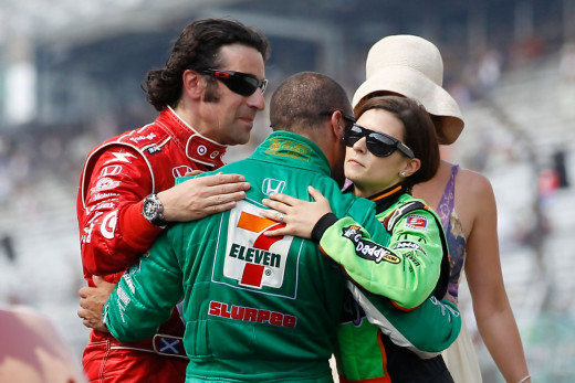 Franchitti, Kanaan, and Danica Patrick during their IndyCar days together