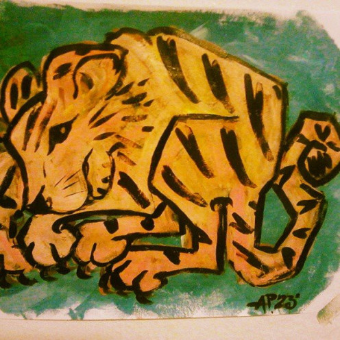 Tiger Acrylic July 2013