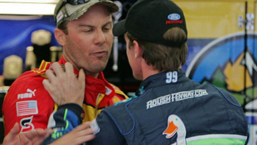 Kevin Harvick and Carl Edwards have met before